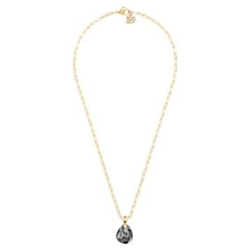 Pendente T Bar, grigio, placcato color oro - Swarovski, 5558340