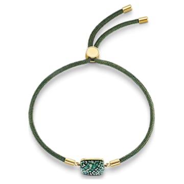 Pulsera Swarovski Power Collection Earth Element, verde, baño tono oro - Swarovski, 5558350