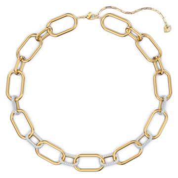 Collar Time, blanco, combinación de acabados metálicos - Swarovski, 5558521