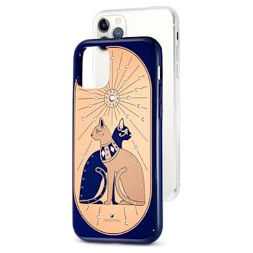 Theatrical Cat Smartphone case with bumper, iPhone® 11 Pro, Multicolored - Swarovski, 5558999