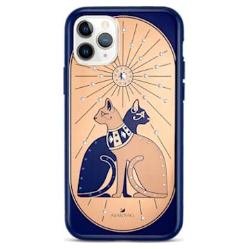 Coque rigide pour smartphone avec cadre amortisseur Theatrical Cat, iPhone® 11 Pro - Swarovski, 5558999