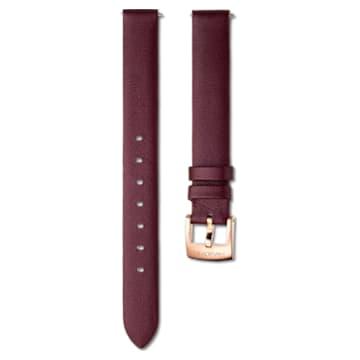 Curea de ceas de 14 mm, din piele, culoare vișinie, nuanță aur roz - Swarovski, 5559052