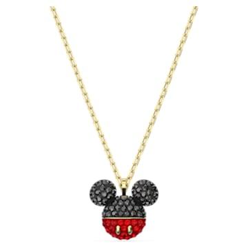 Colgante Mickey, negro, baño tono oro - Swarovski, 5559176