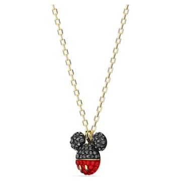 Mickey medál, fekete, arany árnyalatú bevonattal - Swarovski, 5559176