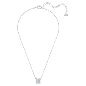 Pendentif Further, blanc, Métal rhodié - Swarovski, 5559259