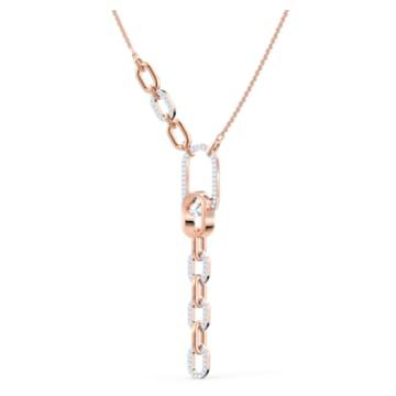 Collar en Y Swarovski Sparkling Dance North, blanco, combinación de acabados metálicos - Swarovski, 5559324