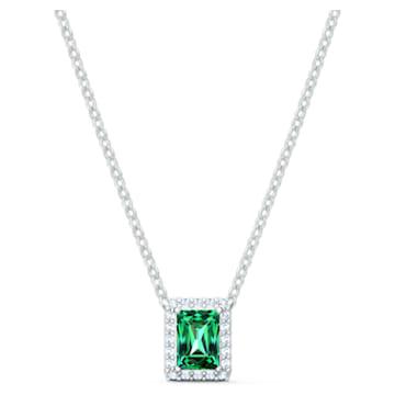 Collana Angelic Rectangular, verde, placcato rodio - Swarovski, 5559380