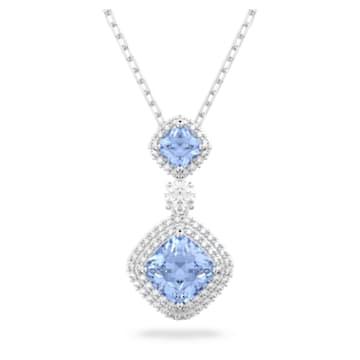 Angelic 项链, 蓝色, 镀铑 - Swarovski, 5559381