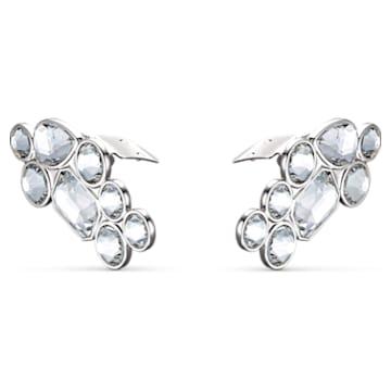 Swarovski Shoe Clips, White, Rhodium plated - Swarovski, 5559823