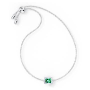 Angelic Rectangular 브레이슬릿, 그린, 로듐 플래팅 - Swarovski, 5559836