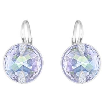 Globe 穿孔耳环, 蓝色, 镀铑 - Swarovski, 5559860