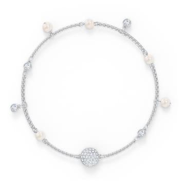Brățară Swarovski Remix Collection Delicate Pearl, alb, placată cu rodiu - Swarovski, 5560661