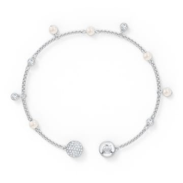 Strand Swarovski Remix Collection Delicate Pearl, bianco, placcato rodio - Swarovski, 5560661