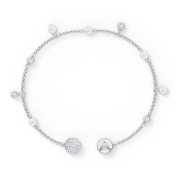 Strand Swarovski Remix Collection Delicate Pearl, blanc, métal rhodié - Swarovski, 5560661