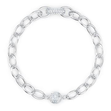 The Elements lánc karkötő, fehér, ródium bevonattal - Swarovski, 5560662