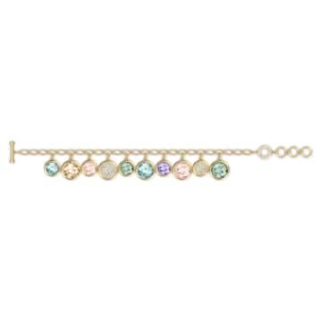 Tahlia-elementenarmband, Meerkleurig, Goudkleurige toplaag - Swarovski, 5560943