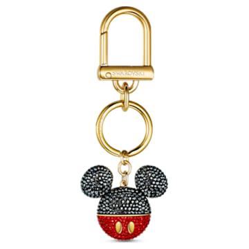 Mickey Handtaschen-Charm, schwarz, vergoldet - Swarovski, 5560954