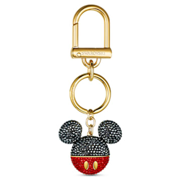 Zawieszka na torebkę Mickey, czarna, powłoka w odcieniu złota - Swarovski, 5560954