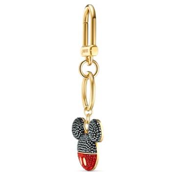 Mickey 手袋墜飾, 黑色, 鍍金色色調 - Swarovski, 5560954