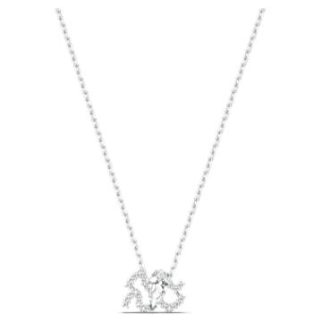 Colgante Zodiac II, Acuario, blanco, combinación de acabados metálicos - Swarovski, 5561421
