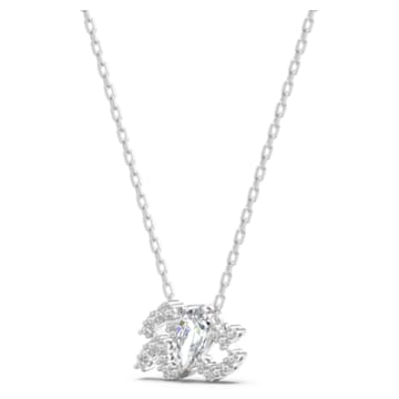 Zodiac II 链坠, 水瓶座, 白色, 多种金属润饰 - Swarovski, 5561421