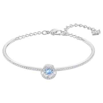 Bracelet-jonc Swarovski Sparkling Dance, bleu, Métal rhodié - Swarovski, 5561881