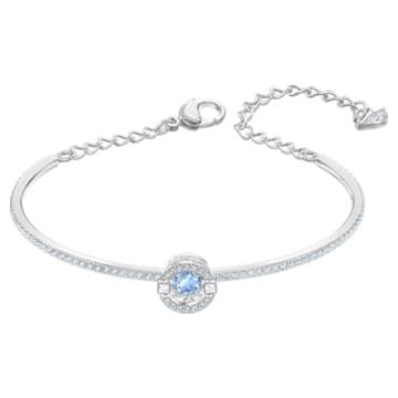 Swarovski Sparkling Dance Жёсткий браслет, Синий Кристалл, Родиевое покрытие - Swarovski, 5561881