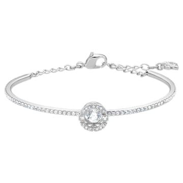 Swarovski Sparkling Dance Жёсткий браслет, Белый Кристалл, Родиевое покрытие - Swarovski, 5561882