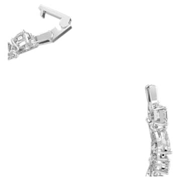 Tennis Deluxe 手链, 混合切割仿水晶, 白色, 镀铑 - Swarovski, 5562088