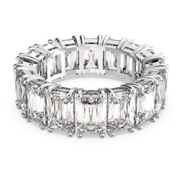 Široký prsten Vittore, bílý, rhodiovaný - Swarovski, 5562129