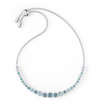 Pulsera Emily Gradient, azul, baño de rodio - Swarovski, 5562130