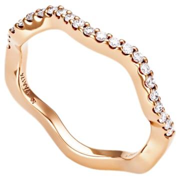 Arc-en-ciel Thin Band Ring, 18K Rose Gold, Size 58 - Swarovski, 5562498