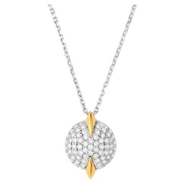 Light Is Life Single Round Pendant, Swarovski Created Diamonds, 18K Yellow Gold, 18K White Gold - Swarovski, 5562673