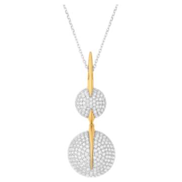 Light Is Life Double Round Pendant, Swarovski Created Diamonds, 18K Yellow Gold, 18K White Gold - Swarovski, 5562678