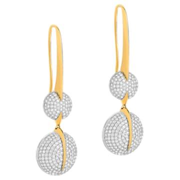 Light Is Life Double Round Earrings, Swarovski Created Diamonds, 18K Yellow Gold, 18K White Gold - Swarovski, 5562679