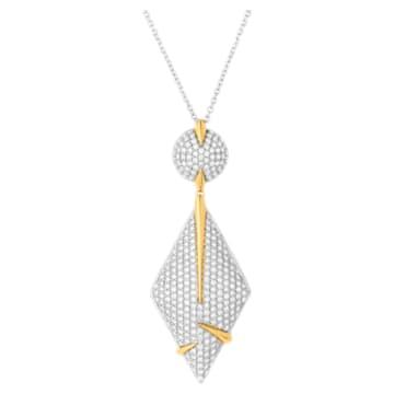 Light Is Life Rhomboid Pendant, Swarovski Created Diamonds, 18K Yellow Gold, 18K White Gold - Swarovski, 5562680
