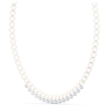 Collana Treasure Pearls, bianco, placcato rodio - Swarovski, 5563289