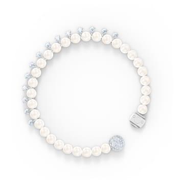 Treasure Pearl Bracelet, White, Rhodium plated - Swarovski, 5563291