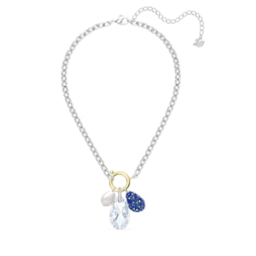 Κολιέ The Elements, μπλε, μικτό μεταλλικό φινίρισμα - Swarovski, 5563511