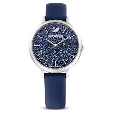 Ceas Crystalline Joy, Curea din piele, Albastru, Oțel inoxidabil - Swarovski, 5563699