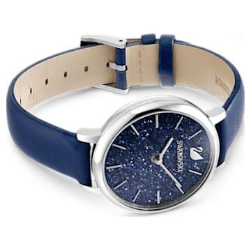 Montre Crystalline Joy, bracelet en cuir, Bleu, Acier inoxydable - Swarovski, 5563699