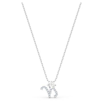 Pendentif Zodiac II, Capricorne, blanc, finition mix de métal - Swarovski, 5563892