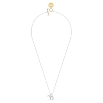 Zodiac II 链坠, 摩羯座, 白色, 多种金属润饰 - Swarovski, 5563892