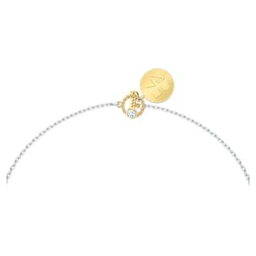 Zodiac II 链坠, 双子座, 白色, 多种金属润饰 - Swarovski, 5563893