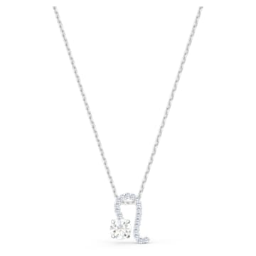 Zodiac II 链坠, 狮子座, 白色, 多种金属润饰 - Swarovski, 5563894