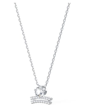 Zodiac II 链坠, 天秤座, 白色, 多种金属润饰 - Swarovski, 5563895
