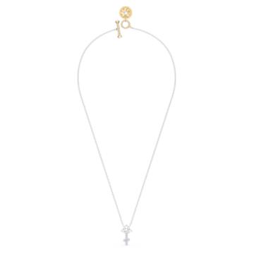 Zodiac II medál, Fehér, Vegyes fém kivitelben - Swarovski, 5563897