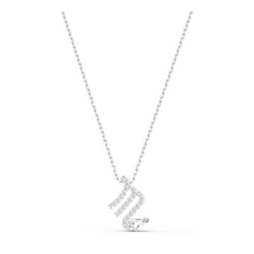 Μενταγιόν Zodiac II, Σκορπιός, λευκό, μικτό μεταλλικό φινίρισμα - Swarovski, 5563898