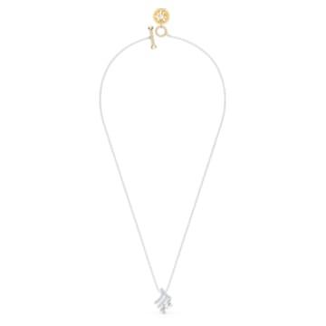 Zodiac II pendant, Virgo, White, Mixed metal finish - Swarovski, 5563899
