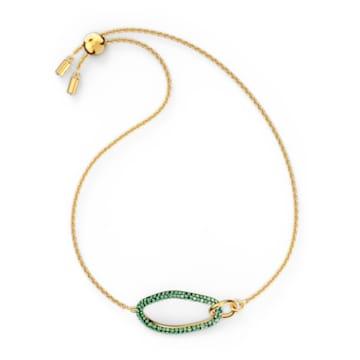 Bracelet The Elements, vert, métal doré - Swarovski, 5563935